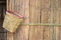 Basket hanging on hut Royalty Free Stock Images