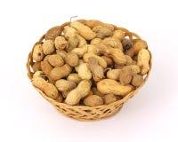Basket of Hard Shell Peanuts royalty free stock photos