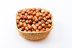 Basket with hazelnuts Stock Photography