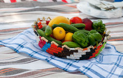 Basket with healthy food Royalty Free Stock Images