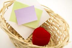 Basket with heart, nice gift girl Stock Photography