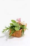 Basket of Herbs Stock Photos
