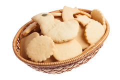 Basket of homemade cookies Stock Image