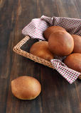 Basket of homemade dinner rolls Royalty Free Stock Images