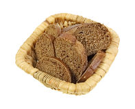 Basket Honey Brown Bread Slices Royalty Free Stock Images