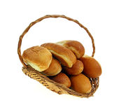 Basket Hot Dog and Sandwich Rolls Royalty Free Stock Photos