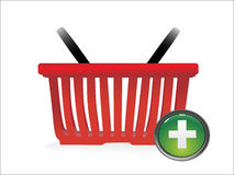 Basket Icon. Add to Basket Icon on a white background Royalty Free Stock Photography