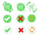 Basket Icons Stock Image