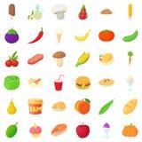 Basket icons set, cartoon style. Basket icons set. Cartoon style of 36 basket vector icons for web isolated on white background Royalty Free Stock Photo