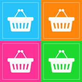 Basket icons set great for any use. Vector EPS10. Stock Photography