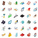Basket icons set, isometric style Stock Images