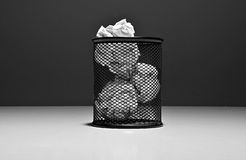 Basket ideas. Recycle all possible and impossible ideas Stock Photos