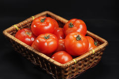Basket with only intact tomatoes Royalty Free Stock Photo