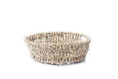 Basket isolate picture. Basket made by handcraft isolate picture royalty free stock photography