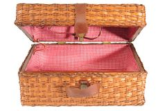 Basket. Isolated stock images