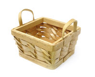 Basket isolated. Over white background royalty free stock image