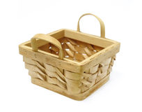 Basket isolated. Over the white Stock Image
