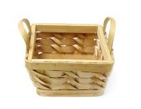 Basket isolated. Over white background Royalty Free Stock Photography