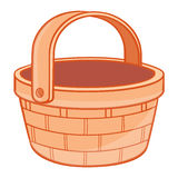 Basket isolated illustration Royalty Free Stock Photography