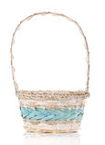 Basket isolated on white background Decorated Stock Images