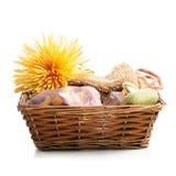 basket items spa Στοκ Φωτογραφία
