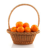 Basket ith tangerines Royalty Free Stock Photo