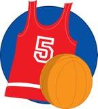 basket jersey Arkivbild
