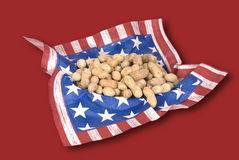 Basket of July fourth peanuts Royalty Free Stock Photo
