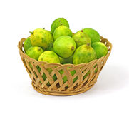 Basket of Key Lime Fruit Royalty Free Stock Image