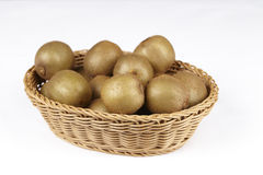 Basket of kiwis Royalty Free Stock Photo