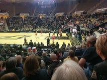 Basket kontra Indiana för Purdue kvinna` s Arkivbild