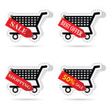 Basket label vector illustration. Art vector in black color Stock Photos