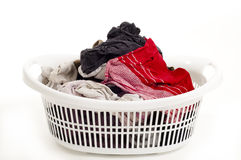 Basket of laundry Stock Photography