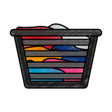 Basket for laundry clothes. Vector illustration design royalty free illustration