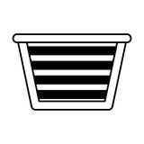 Basket for laundry clothes. Vector illustration design stock illustration