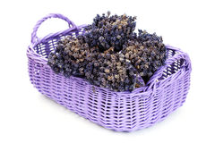 Basket with lavender Royalty Free Stock Photos