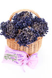 Basket with lavender Stock Photos