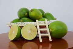 A basket of lemon Stock Photography