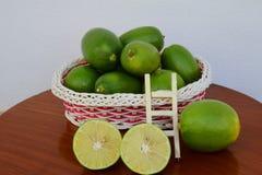 A basket of lemon Royalty Free Stock Photo
