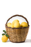 Basket of lemons Stock Photo