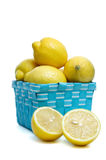 Basket of lemons Royalty Free Stock Photo
