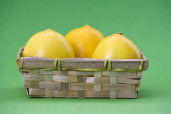 Basket of lemons Royalty Free Stock Photography