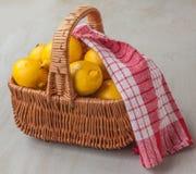 Basket with lemons Stock Photo