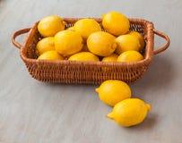 Basket with lemons Stock Photography