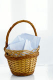 Basket with the letters Royalty Free Stock Image