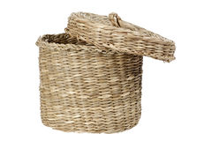 Basket with lid Stock Photography