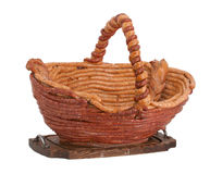 Basket made from sausage Royalty Free Stock Photo