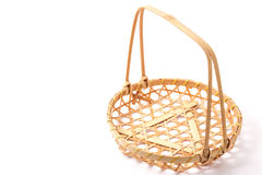 Basket made of bamboo Royalty Free Stock Images