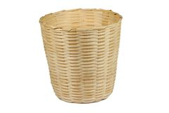 Basket made from bamboo Royalty Free Stock Photography