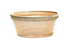 Basket made of bamboo. Basket made of bamboo on white background Royalty Free Stock Photography